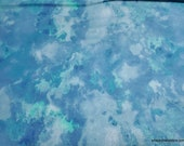 Flannel Fabric - Blue Green Watercolor - By the yard - 100% Cotton Flannel