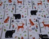 Flannel Fabric - Birch Tree Wilderness - By the yard - 100% Cotton Flannel
