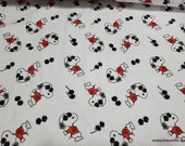 Character Flannel Fabric - Peanuts Snoopy Joe Cool - By the yard - 100% Cotton Flannel