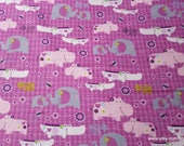 Flannel Fabric - Eloise 2x2 - By the yard - 100% Cotton Flannel