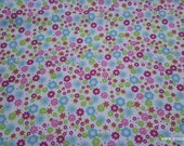 Flannel Fabric - Deer Bright Floral - By the yard - 100% Cotton Flannel