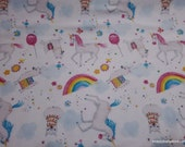 Flannel Fabric - Unicorns and Llama Party - By the yard - 100% Cotton Flannel