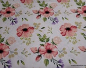 Flannel Fabric - Spring Sweet Garden Floral - By the yard - 100% Cotton Flannel