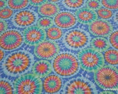 Flannel Fabric - Multi Pastel Tie Dye - By the yard - 100% Cotton Flannel
