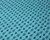 Flannel Fabric - Blue Depth Arrows - By the Yard - 100% Cotton Flannel
