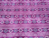 Flannel Fabric - Pink Aztec - By the yard - 100% Cotton Flannel
