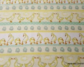Flannel Fabric - Ducks in Line - By the yard - 100% Cotton Flannel