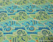 Flannel Fabric - Iguanas - By the yard - 100% Cotton Flannel