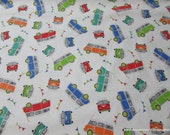 Flannel Fabric - Campers - By the yard - 100% Cotton Flannel