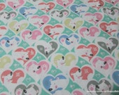 Flannel Fabric - Love My Bear - By the yard - 100% Cotton Flannel