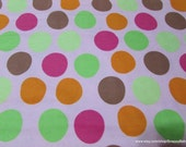 Flannel Fabric - Baby Big Dots on Pink - 1 yard - 100% Cotton Flannel