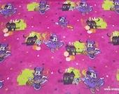 Flannel Fabric - Disney Minnie Halloween Fun - By the yard - 100% Cotton Flannel