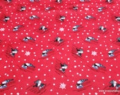 Character Christmas Flannel Fabric - Peanuts Sledding Fun Christmas - By the Yard - 100% Cotton Flannel