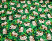 Flannel Fabric - Sloths in Trees - By the Yard - 100% Cotton Flannel