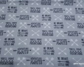 Flannel Fabric - Boone Arrows and Words - By the yard - 100% Cotton Flannel