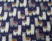 Flannel Fabric - Patterned Llamas - By the Yard - 100% Cotton Flannel