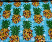 Christmas Flannel Fabric - Christmas Pineapple -By the Yard - 100% Cotton Flannel