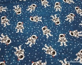 Flannel Fabric - Astronaut in Space - By the yard - 100% Cotton Flannel