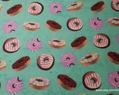 Flannel Fabric - Tie Dye Donuts - By the yard - 100% Cotton Flannel