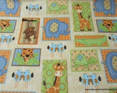 Flannel Fabric - Jungle Framed - By the yard - 100% Cotton Flannel