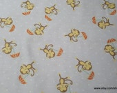 Flannel Fabric - Noah's Ark Tossed Monkey - By the yard - 100% Cotton Flannel
