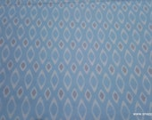 Flannel Fabric - Blue Geo - By the yard - 100% Cotton Flannel