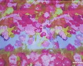 Flannel Fabric - Bright Watercolor Luxe - By the yard - 70% Rayon, 30 Cotton