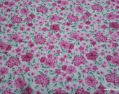 Flannel Fabric - Emma Pink Floral - By the yard - 100% Cotton Flannel