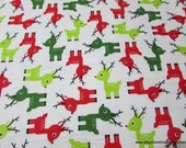Christmas Flannel Fabric - Ice Reindeer Premium Flannel- By the yard - 100% Premium Cotton Flannel