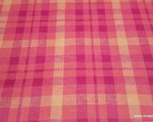Flannel Fabric - Alex Plaid Coral - By the Yard - 100% Cotton Flannel