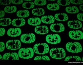 Glow in the Dark Flannel Fabric - Trick or Treat Glow in the Dark - By the yard - 100% Cotton Flannel