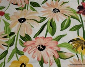 Flannel Fabric - Watercolor Floral Large - By the Yard - 100% Cotton Flannel