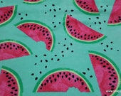 Flannel Fabric - Watermelon Slices and Seeds - By the Yard - 100% Cotton Flannel