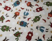 Christmas Flannel Fabric - Winter Folk Premium - By the yard - 100% Premium Cotton Flannel