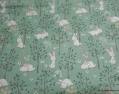 Flannel Fabric - Floppy Garden Green - By the yard - 100% Cotton Flannel