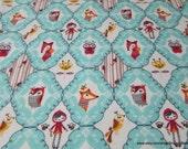 Flannel Fabric - Folk Frames - By the yard - 100% Cotton Flannel