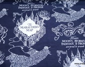 Character Flannel Fabric - Harry Potter Marauders Map - By the yard - 100% Cotton Flannel