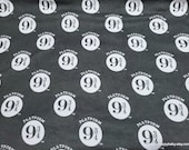 Character Flannel Fabric - Harry Potter Platform 9 & 3/4 Black - By the yard - 100% Cotton Flannel