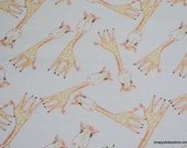 Flannel Fabric - Cuddle Me Giraffe - By the yard - 100% Cotton Flannel