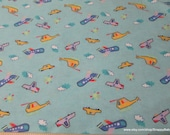 Flannel Fabric - Transportation Sky - 1 yard - 100% Cotton Flannel