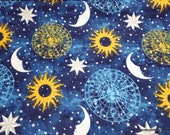 Flannel Fabric - Cosmo Clock - By the yard - 100% Cotton Flannel