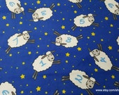 Flannel Fabric - Counting Sheep - By the yard - 100% Cotton Flannel