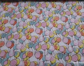 Flannel Fabric - Playful Cuties 3 Balloons - By the yard - 100% Premium Cotton Flannel