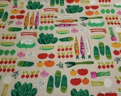Flannel Fabric - Veggies - By the yard - 100% Cotton Flannel