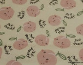 Flannel Fabric - Just Peachy - By the yard - 100% Cotton Flannel