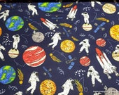 Flannel Fabric - Astro Mission - By the yard - 100% Cotton Flannel
