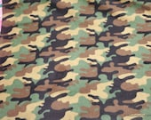 Flannel Fabric - Camo Army - By the yard - 100% Cotton Flannel