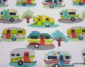 Flannel Fabric - Glamping Fun - By the Yard - 100% Cotton Flannel