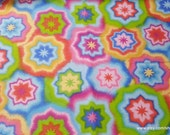 Flannel Fabric - Starburst Tie Dye - 1 yard - 100% Cotton Flannel