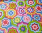 Flannel Fabric - Starburst Tie Dye - 1 yard - 100% Cotton Flannel